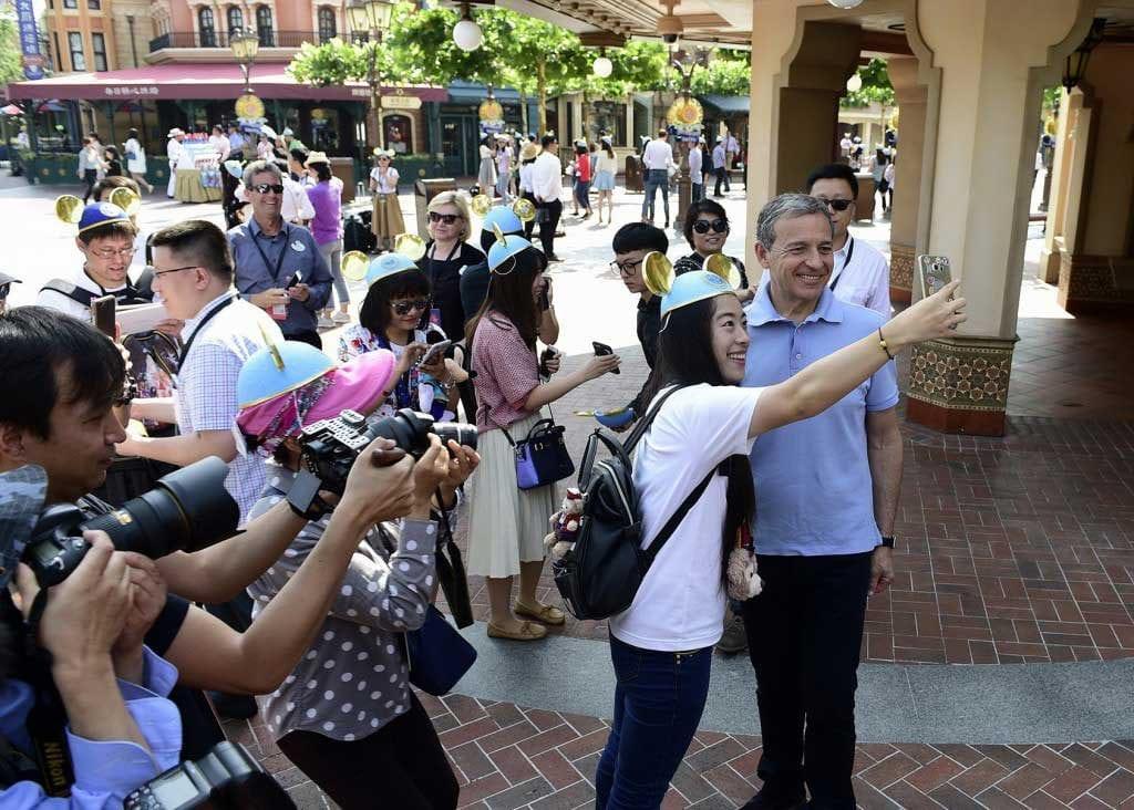 shanghai disney bob iger selfie 10million visitors trends in asian attractions