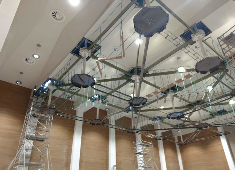 Ropes Courses Inc. provides suspended Sky Trail® ropes course to Qatar's Naufar rehab centre