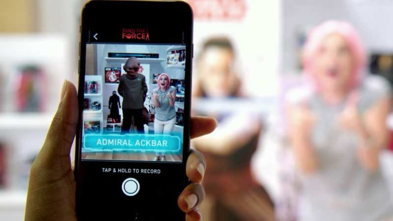 Star Wars Find the Force AR experience