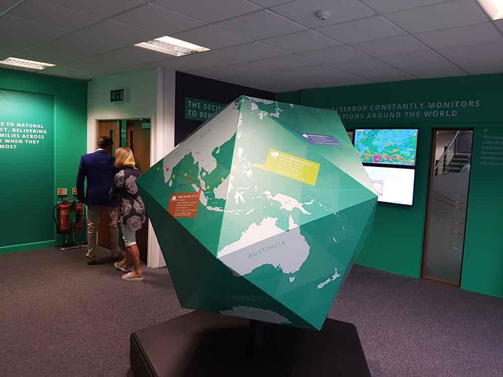 ShelterBox Visitor Centre globe education