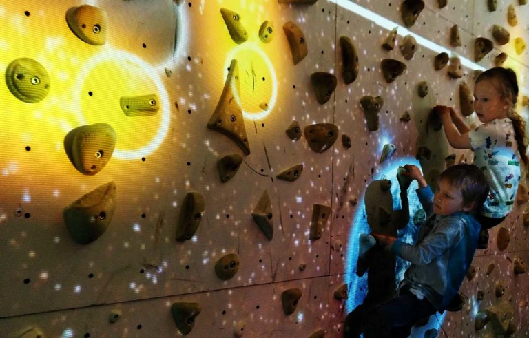 Augmented Climbing Wall from valo motion available through Clip 'n Climb