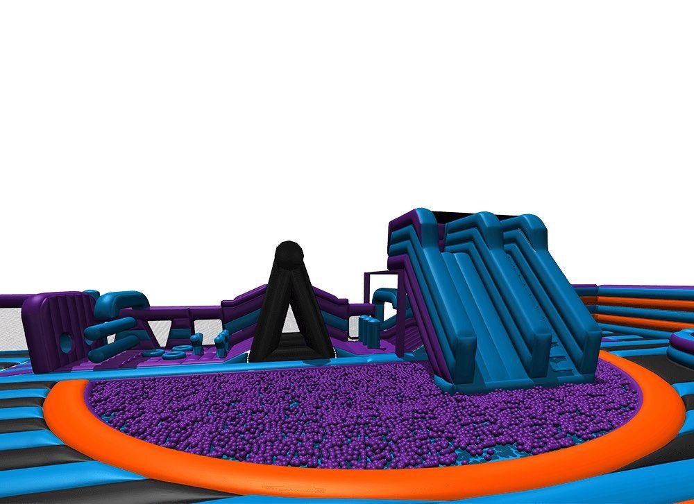 inflata nation inflatable theme park slide