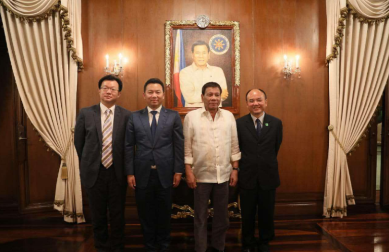 landing international meets president of the philippines