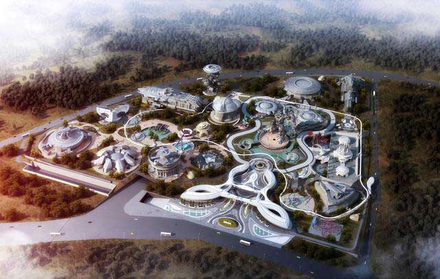 East Valley of Science and Fantasy in Guizhou Oriental Times media Corp china Vr theme park