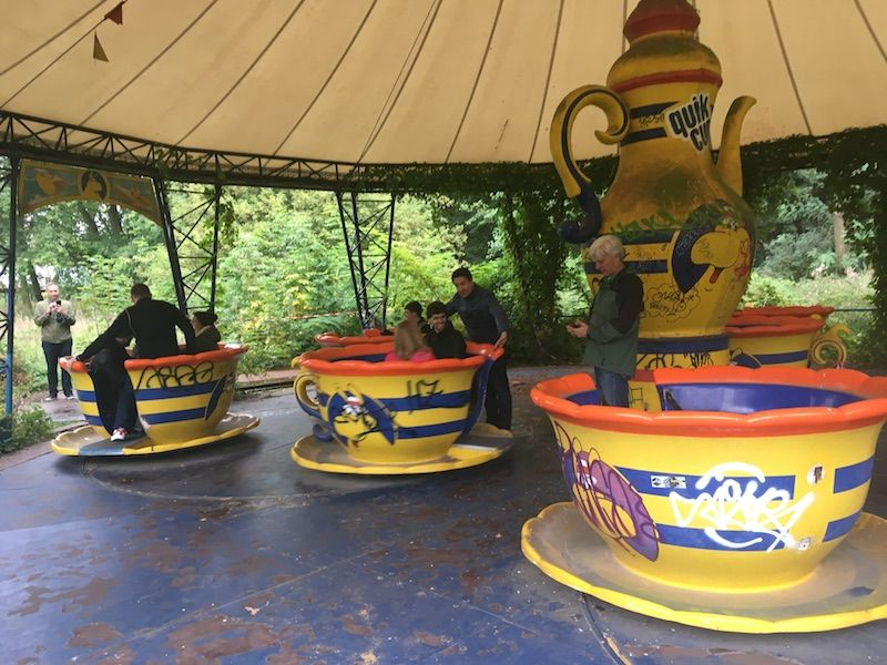 Spreepark teacups at euro attractions show in berlin