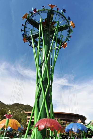Intamin's Rainforest Drop Towers open at China's Chimelong Ocean Kingdom zhuhai