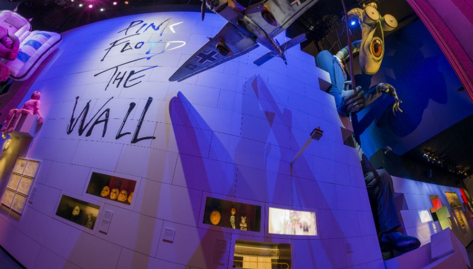 the pink floyd their mortal remains exhition V&A the wall
