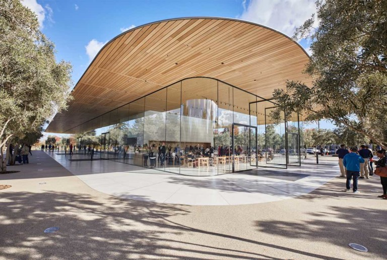 Foster + Partners Apple Park Visitor Center exterior
