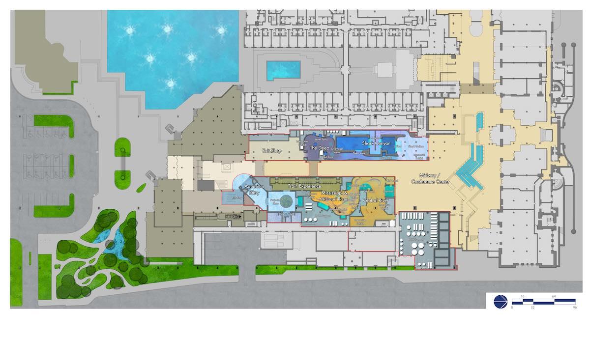 St. Louis Aquarium plan floor 1 PGAV