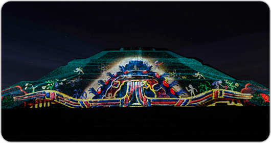 Christie and Cocolab projection-mapping brings Mexico's Teotihuacan Pyramids to life