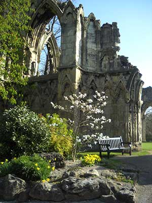 abbey ruins and rock garden York Museums Trust York Museum Christmas at York Castle
