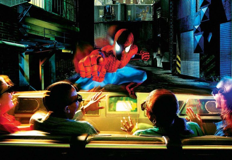 the amazing adventures of spider-man themed attractions emotional connection