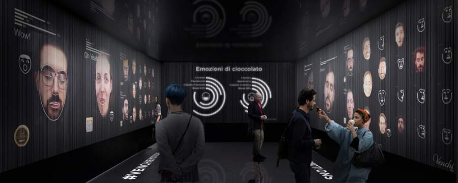 Good enough to Eataly: Venchi pavilion made of 30,000 pralines uses AI to measure visitors' taste