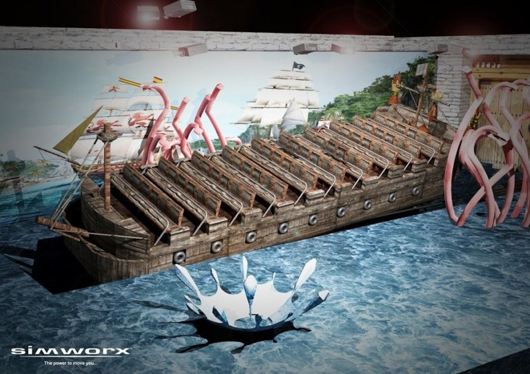 Concept art of the planned Piratas de Bacalar attraction for Amikoo Resort Destination Theme Park, designed by Simworx.