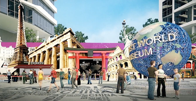 Capital 21 mall in Malaysia featuring the First World Museum and MCM Studio developed by Capital City.