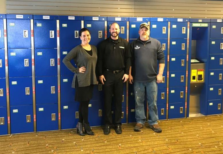 The Locker Network employees stand in front of provides advanced keyless locker solution at Granby Ranch Ski Resort