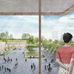 Renderings of the proposed Obama Presidential Center to be built in Chicago. Obama Foundation.