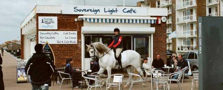 Sovereign Light Cafe featires on geotourist Keane walking tour app