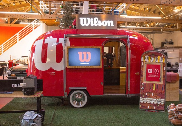 The Wilson Experience pop up museum designed by OutCold.
