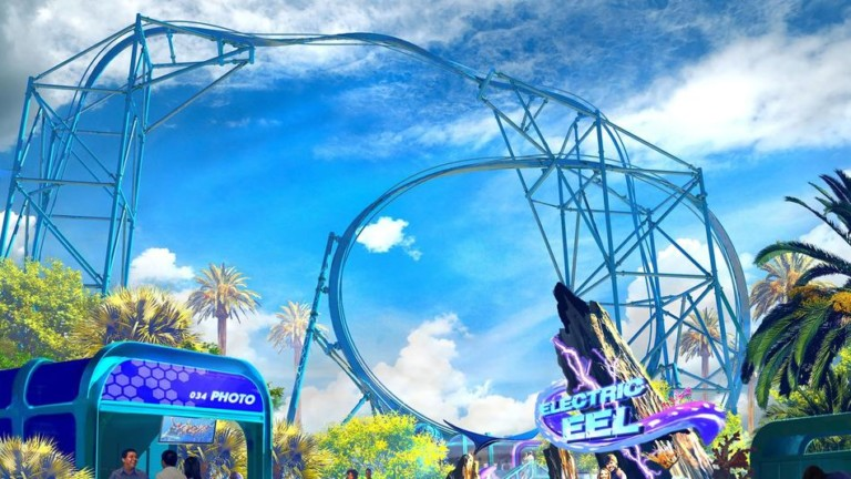 IAAPA. Electric eel. Wicker Man. Rides. Attractions. Preview. Roller Coaster.