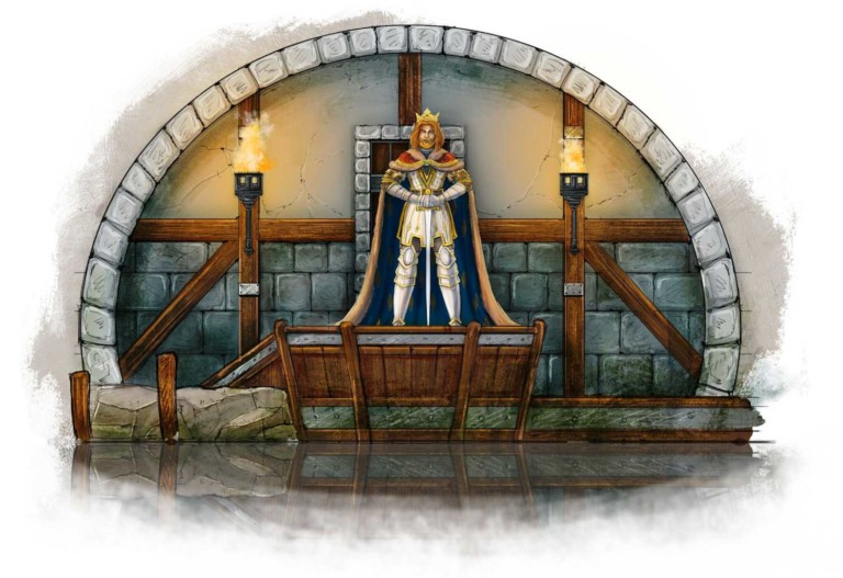 king arthur design for movie park germany excalibur ride by mk illumantion