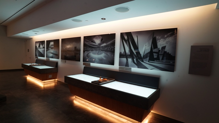Interactive displays at Thinkwell Group's new visitor centre experience for Wahat Al Karama Memorial, Abu Dhabi