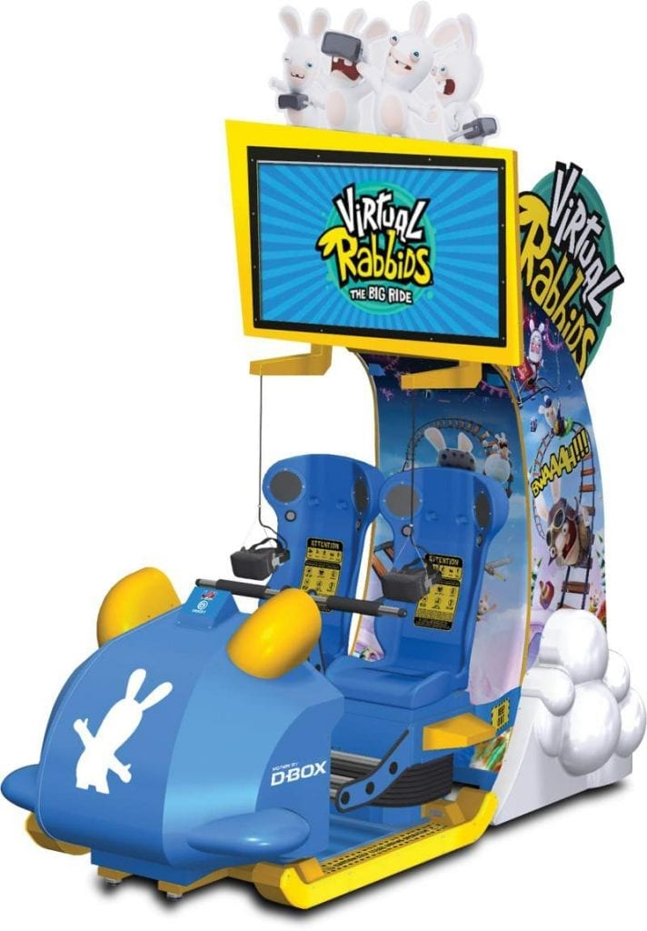 Game cabinet of Virtual Rabbids VR ride which LAI Games will debut at EAG