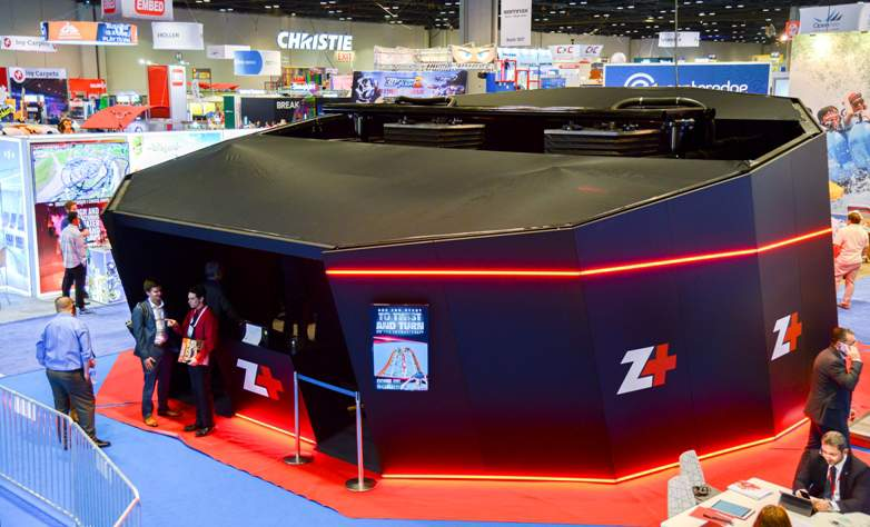 iaapa demo of VR BOX from Zamperla's new Z+ brand brings big coaster experience to small parks and indoor FECs