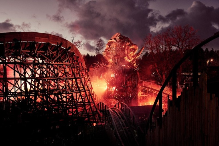 Wicker Man wooden roller coaster at Alton Towers