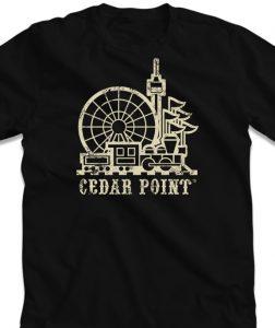 Cedar point retro t-shirt apparel