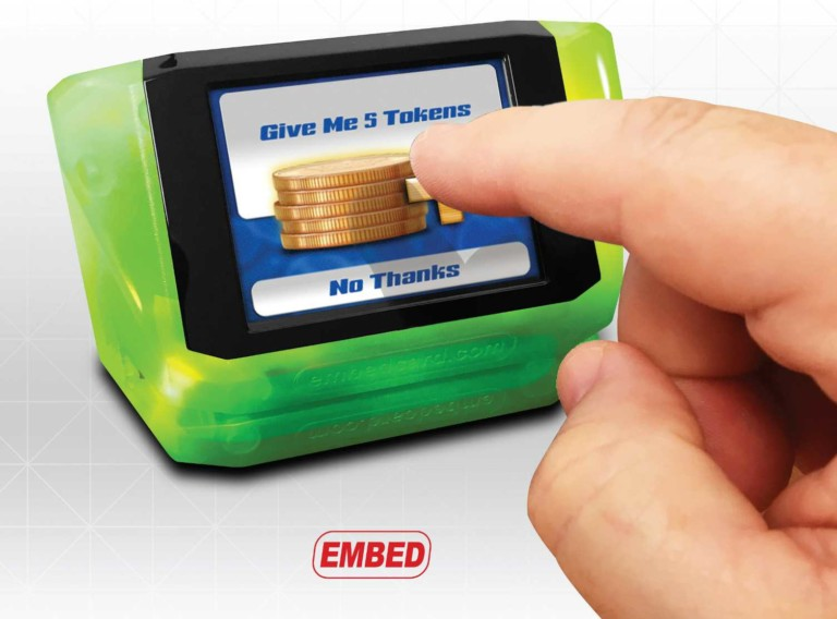 finger activates embed token request and debit card technology