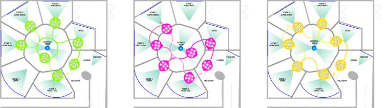 plan view of erratic dark ride by alterface