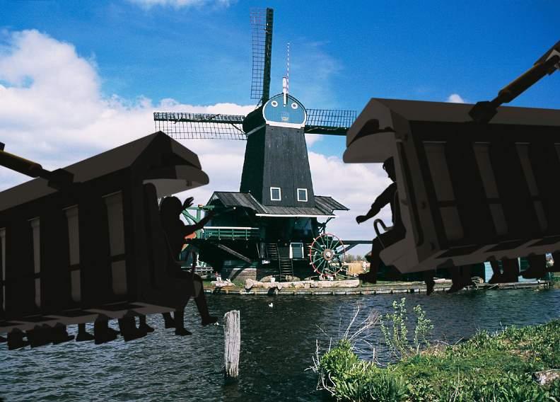 This is holland flying theatre Beeld Iride_Molen_windmill