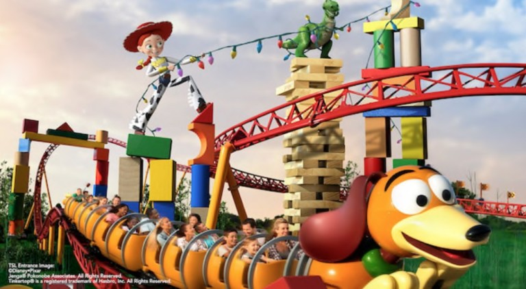 Slinky Dog Dash roller coaster at Toy Story Land in Disney's Hollywood Studios at Walt Disney World Resort in Orlando.