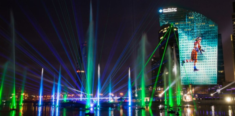 laservision multimedia nighttime spectacular
