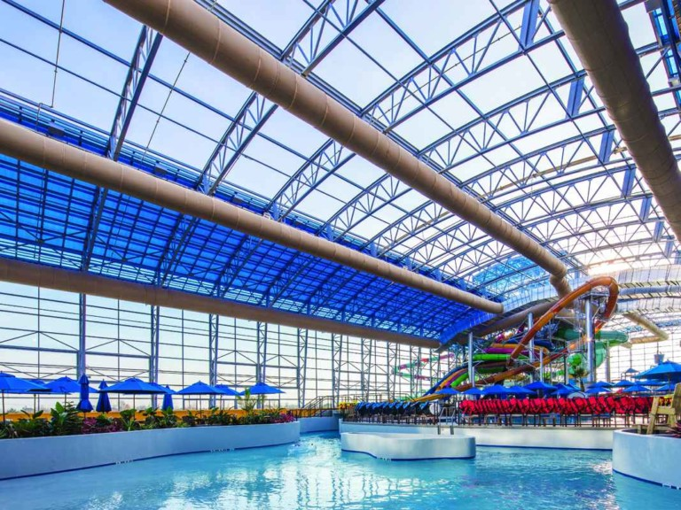 openaire retractable roof enclosing epic waters water park
