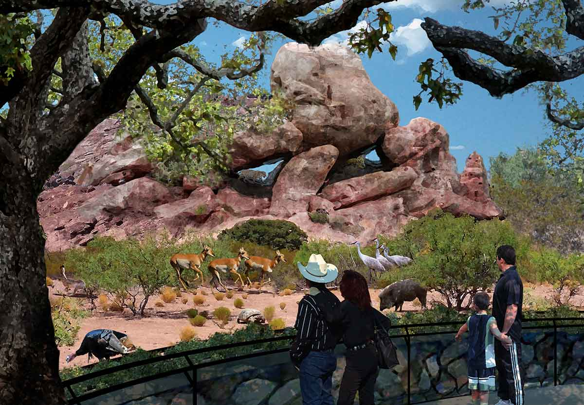 PGAV Destinations design Chihuahuan Desert Exhibit at El Paso Zoo