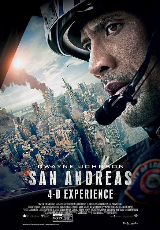 San Andreas 4D experience poster.