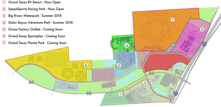 Grand Texas Sports and Entertainment District map.