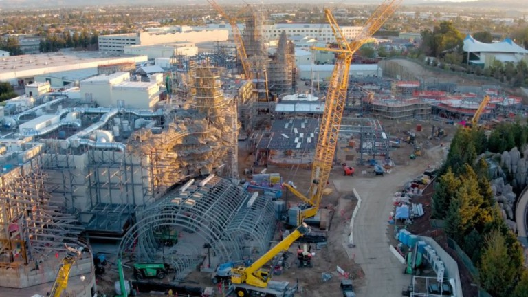 Star Wars - Galaxy's Edge construction footage Walt Disney World and Disneyland