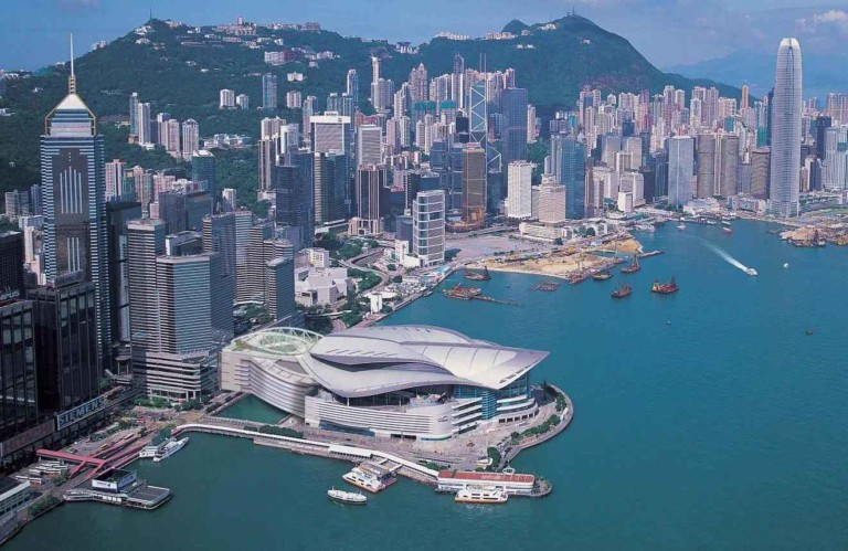 aerial view of honk kong exhiibition and conference center venue for AAE 2018