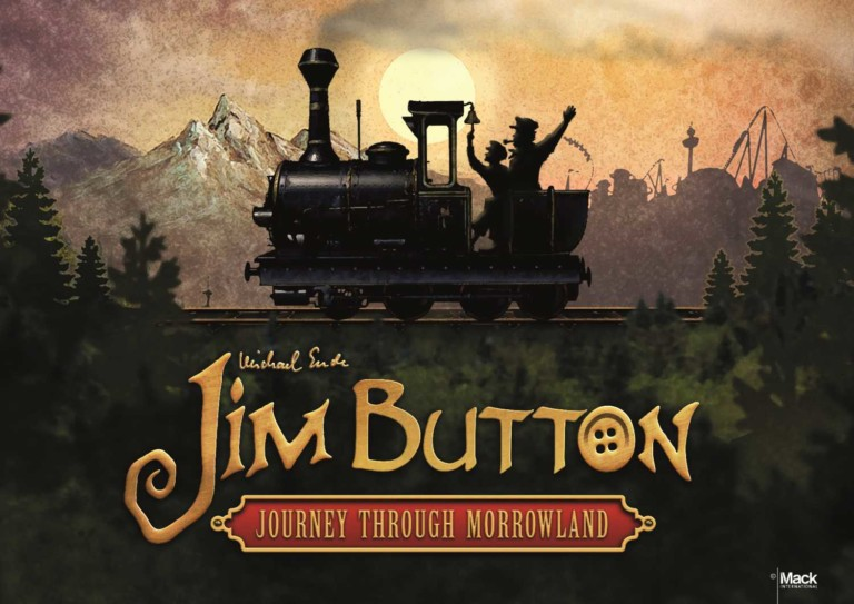 poster for jim button train ride through morrowland in europa park author michael ende