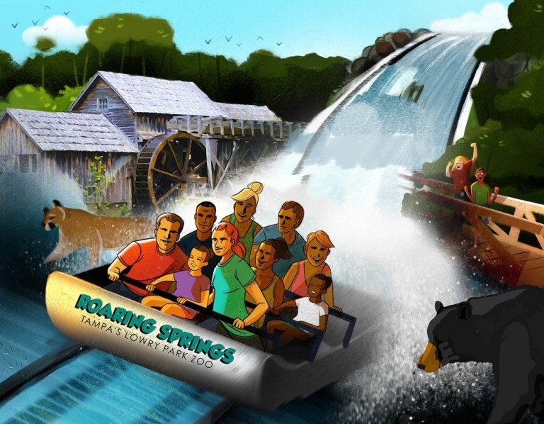 Roaring Springs water ride at Zoo Tampa at Lowry Park.