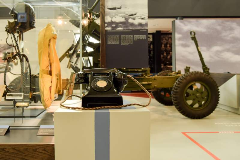 battle of britain bunker exhibition with period telephone