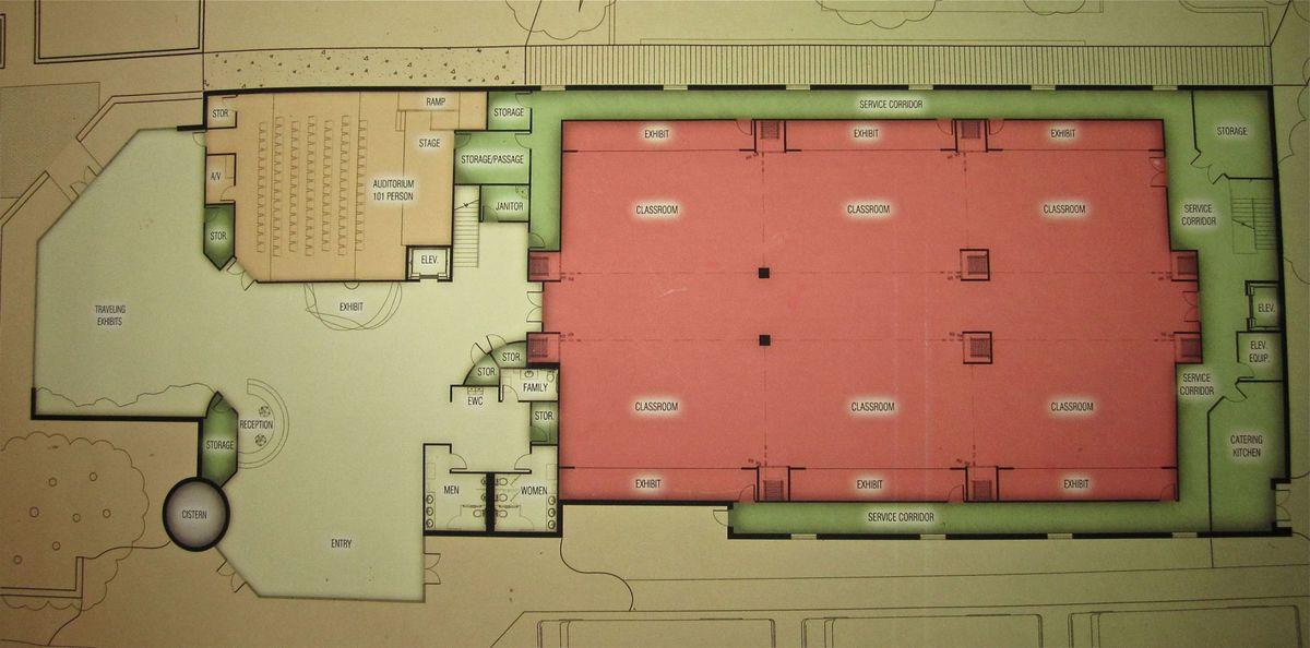 Education centre floor plans at Cameron Park Zoo