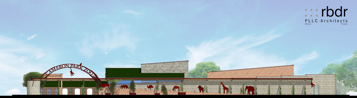 A rendering of the proposed education centre. (Image: c. Cameron Park Zoo.)