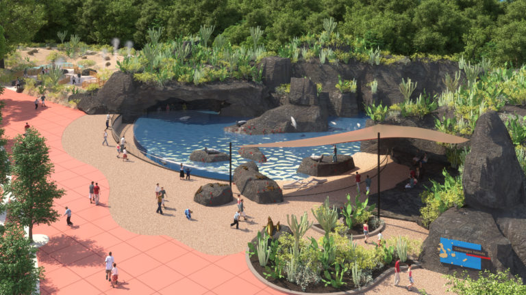 A rendering of the Galapagos Islands exhibit coming in 2022. Houston Zoo