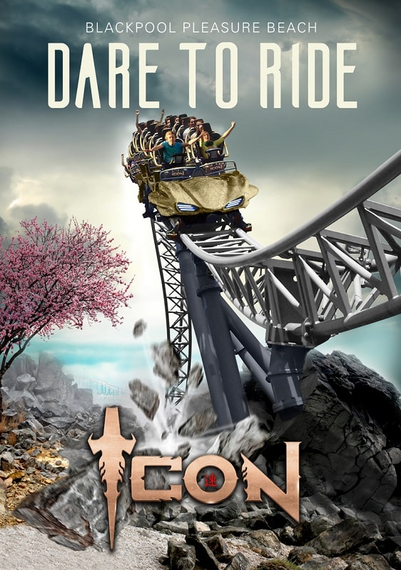 Icon roller coaster poster