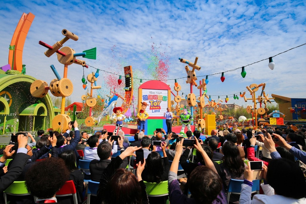 The opening of Toy Story Land at Shanghai Disney Resort.