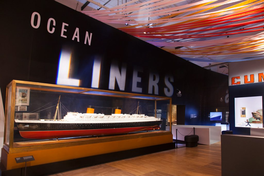Sysco Productions audiovisual installation for the V&A's Exhibition 'Ocean Liners: Speed & Style'